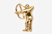 #903G - Compound Bow Hunter 24K Gold Plated Pin