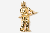 #915G - Fireman 24K Gold Plated Pin