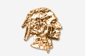 #920G - Native American 24K Gold Plated Pin