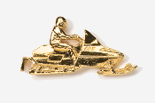 #930G - Snowmobile 24K Gold Plated Pin