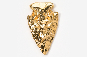 #702DG - Arrowhead & Buck Head 24K Gold Plated Pin