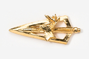 #703DG - Broadhead & Deer 24K Gold Plated Pin