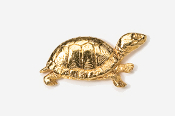 #608G - Box Turtle 24K Gold Plated Pin
