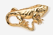 #615G - Iguana 24K Gold Plated Pin