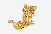 #616G - Gecko 24K Gold Plated Pin