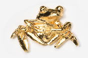 #592G - Front Facing Tree Frog 24K Gold Plated Pin