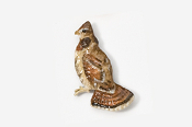 #302P - Ruffed Grouse Hand Painted Pin
