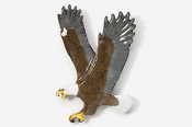 #333P - Left Flying Eagle Hand Painted Pin