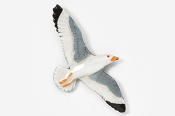 #385P - Seagull Hand Painted Pin