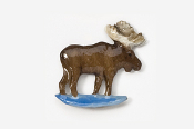 #406P - Standing Moose Hand Painted Pin