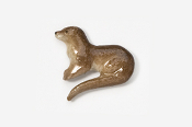 #414P - River Otter Hand Painted Pin