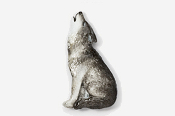 #418P - Howling Wolf Hand Painted Pin