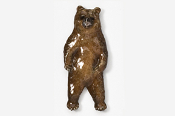 #423EP - Standing Brown Bear Hand Painted Pin