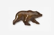 #423P - Grizzly Bear Hand Painted Pin