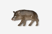 #425P - Wild Boar Hand Painted Pin