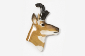 #432P - Pronghorn Hand Painted Pin