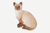 #439DP - Sitting Shorthair Cat Hand Painted Pin