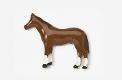 #441P - Standing Horse Hand Painted Pin