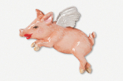 #446AP - Flying Piggie Hand Painted Pin