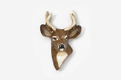#466P - 4 Point Buck Hand Painted Pin