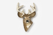 #467P - 6 Point Buck Hand Painted Pin