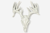 #468DP - 13 Point Drop Tine Buck Skull Hand Painted Pin