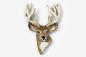 #468P - 10 Point Buck Hand Painted Pin