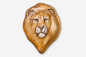 #493AP - Lion Head Hand Painted Pin