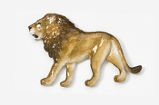 #493P - Lion Hand Painted Pin