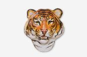 #495AP - Tiger Head Hand Painted Pin
