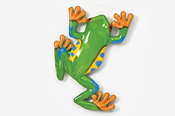 #591P - Climbing Tree Frog Hand Painted Pin
