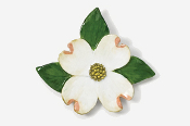 #750P - Dogwood Blossom Hand Painted Pin