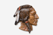#920P - Native American Hand Painted Pin