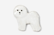 #856P - Bichon Frise Hand Painted Pin