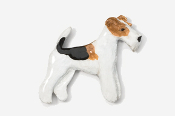 #859AP - Wire Fox Terrier Hand Painted Pin
