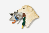 #450CP-Y - Labrador Retriever with Duck Hand Painted Pin