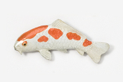 #133AP-OW - Koi Hand Painted Pin