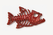 #175P-R - Bony Fish Hand Painted Pin