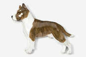 #460AP-BRW - Amstaff Terrier Hand Painted Pin