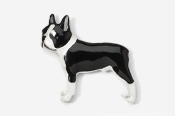 #852P-BW - Boston Terrier Hand Painted Pin