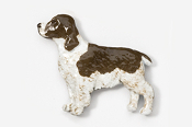#455BP-LW - Springer Spaniel Hand Painted Pin