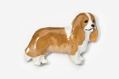 #455CP-BLN - Cavalier King Charles Hand Painted Pin