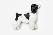 #455EP-BWP - Pet Clip Cocker Spaniel Hand Painted Pin
