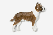 #460BP-BRW - Pit Bull Hand Painted Pin