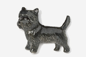 #877P-DK - Cairn Terrier Hand Painted Pin