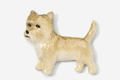 #877P-WH - Cairn Terrier Hand Painted Pin