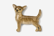 #860P-BR - Smooth Chihuahua Hand Painted Pin