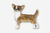 #860P-BRW - Smooth Chihuahua Hand Painted Pin