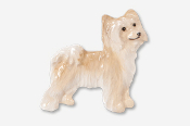 #880AP-WH - Powder Puff Chinese Crested Hand Painted Pin