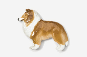#458P-S - Sheltie Hand Painted Pin
